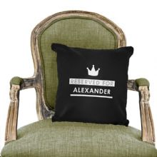 Personalised Reserved For Black Cushion Cover P0510E33
